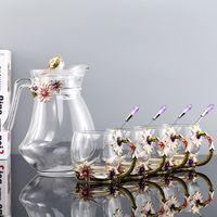 glass mug spoon crystal glass jug luxury mug coffee mug