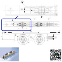 AJOHN Noiseless wooden door bottom adjustable rollers thumbnail image