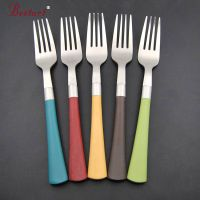 18/0 stainless steel colorful plastic handle cutlery set