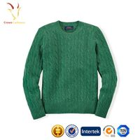 Cable design wool cashmere sweater for kids thumbnail image