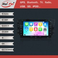 Huifei stereo touch screen in car dvd player with GPS navigation blue tooth 3G WIFI