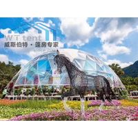 transparent geodesic dome tent for outdoor events