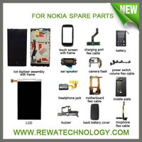 LCD display,Digitizer,Housing,Cases,Batteries,Camera,Flex Cable,Antenna Cellphone Parts for Nokia
