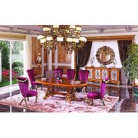 Bisini New Classical Elegant Hand Carved Wooden Dining Room Set