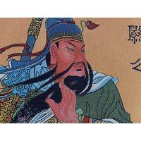 Guan Gong like silk brocade scroll painting- Chinese Silk painting,Chinese Silk,Business Gift, Meeti
