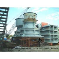 "USED ""KOBE"" ALLIS-CHALMERS"" 11-72 (72"" X 11"") HYDROCONE CRUSHER S/NO.11-1266"