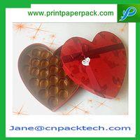 Custom Fancy Heart-shape Candy Box Lid and Base Box Chocolate Gift Packaging box