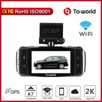 Car DVR , 2.7' LCD, Amba A7, built in GPS  and  WIFI, support 4G function, thumbnail image