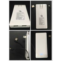 5000mAh Dual USB port with AC Plug built-in Cable power bank for USA