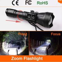 Odepro B158 zoom flashlight XM-L2 T6 led hunt torch