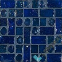 "12"" Iridescent Glass Mosaic Tile(L2IITM005)"