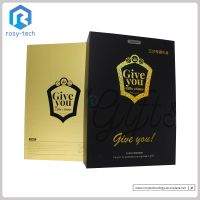 Luxury Packing Box Paperboard Shining Golden Box For Promotion thumbnail image