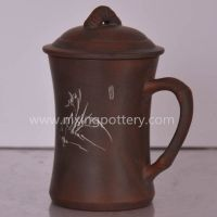 Ceramic Tea Cup Bamboo Hand Carving Tea Mug chinese Tea Cups Qinzhou Nixing