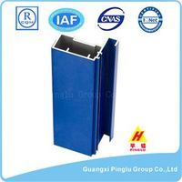 Blue T Slot Square Aluminum Alloy Window Frame