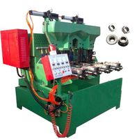 The pneumatic 4 spindle flange & hex nut tapping machine professional manufacturer