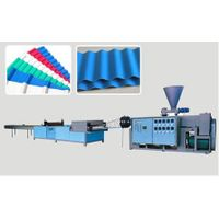 PVC/PP/ABS/PE corrugated plastic roof sheet machine thumbnail image