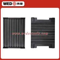 High tension railway ballast rubber pads