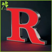 Face Lit Channel Letters Stainless Steel Sign Maker