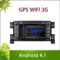 "7"" 2 din SUZUKI VITARA android 4.1 car DVD with Radio,GPS,Ipod,Bluetooth,SWC,Wifi,PIP,3D UI"
