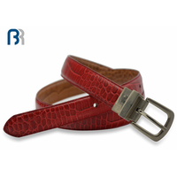 Ladies Reversible Stitching Leather Belt