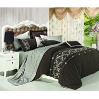 high quality cotton fabric embroidery comforter set