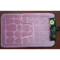 2pcs bath mat PP twist rug
