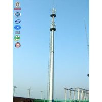 Telecom communication mobilephone hot dip galvanized monopole tower