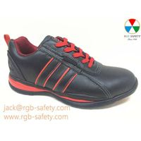 RGB Ladies Safety Trainer WORK Steel toecap in Black & Red SF-063