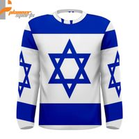 Israel Israeli Flag Sublimated Men's Long Sleeve T-Shirt S,M,L,XL,2XL,3XL
