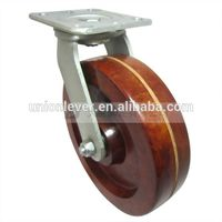 8 inch Plate swivel high temperature caster of 300 degree C series