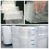Nonwoven fabric for diaper and sanitary napkin topsheet