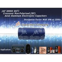 JAF - 1000H 105°C, DF at Max 10% BP Axial Aluminum Electrolytic Capacitors for Audio