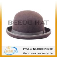 Fashion men wool felt bowler top hat wholesale