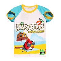 wholesale summer short sleeve boys girls T-shirt children's cartoon 100% catoon