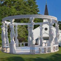 stone garden pavilion, stone gazebo, marble pavilions, roman columns