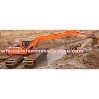 dredging excavator, swamp excavator, amphibious excavator, swampland excavator, excavator digger