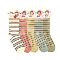 Childrens socks in stripes fashion color design