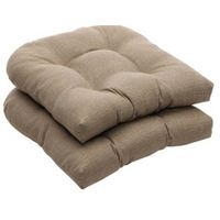 Indoor/Outdoor Taupe Textured Solid Wicker Seat Cushions