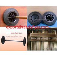 Dustbin wheel and axle for mobile garbage bin container