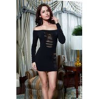 black cut out asymmetrical party dress by eve's night