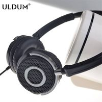 wired metal grid deep sound bass headphone headset with mic