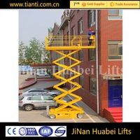 Aerial portable electric hydraulic scissor lift for building construction maintenance