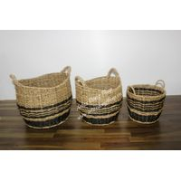 Set of 3 hot item seagrass basket, food and fruit basket-SD5050A-3MC