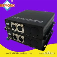 2ch balanced audio to fiber broadcast transmitter and receiver ,XLR connector FC/SC/ST/LC