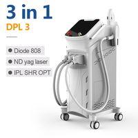 3 in 1 laser / diode laser + nd yag + Elight ipl shr / ipl laser hair removal