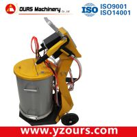 Manual electrostatic powder coating spray gun