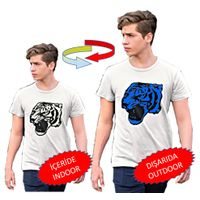 Color changing T-shirt. Lion-patterned