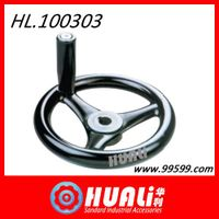 steel and stainless bakelite handwheel machinery accessories in factory