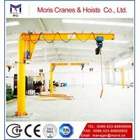 Pillar type spiral arm crane