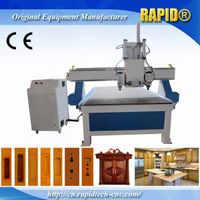 Spindle rotate 90 degree cnc ATC 3D cnc Side milling 1325 woodworking router